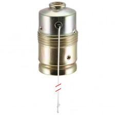 Lampen Metallfassung E27, ohne Außengewinde mit Zugschalter