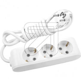Steckdosenleiste PANASONIC 3 fach weiß 3,0m geschraubt, mit Winkelstecker, Kinderschutz