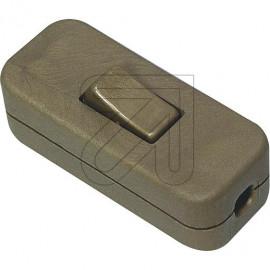 Wipp Zwischenschalter Aus gold 2A 1 polig, mit 2 Zugentlastungen