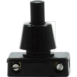 Druck Einbau Schalter  Hals 12mm schwarz 230V / 2A Gewindedurchmesser 10mm