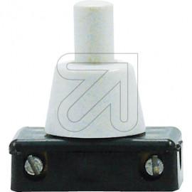 Druck Einbau Schalter Hals 8mm weiß 230V / 2A Gewindedurchmesser 10mm