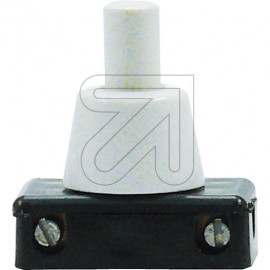 Druck Einbau Schalter Hals  8mm weiß 230V/2A, Serien, 1-polig Schaltung 0-1-1+2-2-0