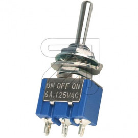 Mini Kipp Schalter 1 polig Um chrom mit Zentralbefestigung M6