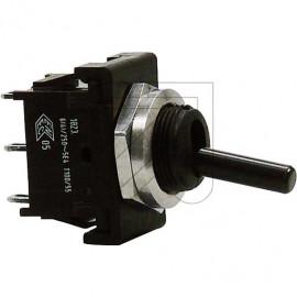 Mini Kipp Schalter 230V / 6(4A), Lötanschluß 1 polig T 85° C Aus schwarz