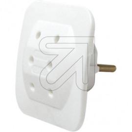 Europa Dreifach Adapter weiß für 3x Euro Stecker TÜV/GS