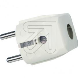 Schutzkontakt Standard Stecker weiß Thermoplast 250V / 16A, VDE / KEMA KEUR