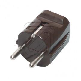 Schutzkontakt Standard Stecker braun Thermoplast 250V / 16A, VDE / KEMA KEUR