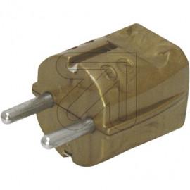 Schutzkontakt Standard Stecker gold Thermoplast 250V / 16A, VDE / KEMA KEUR