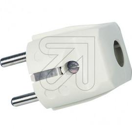 Schutzkontakt Standard Stecker reinweiß Thermoplast 250V / 16A, VDE / KEMA KEUR