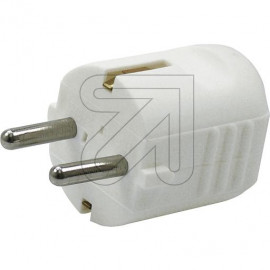 Schutzkontakt Stecker weiß Thermoplast, mit zentraler Leitungseinführung