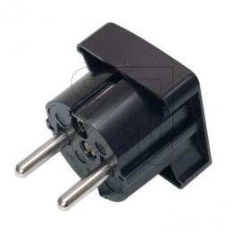 Flächen Winkelstecker schwarz Thermoplast seitliche Leitungseinführung