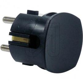 Winkelstecker schwarz Thermoplast mit Zugentlastung 250V / 16A