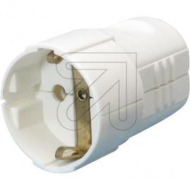 Standard Kupplung weiß Thermoplast, mit zentraler Leitungseinführung und Zugentlastung
