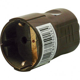 Standard Kupplung braun Thermoplast, mit zentraler Leitungseinführung und Zugentlastung