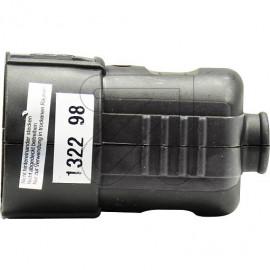 Standard Kupplung schwarz Thermoplast, mit zentraler Leitungseinführung und Zugentlastung