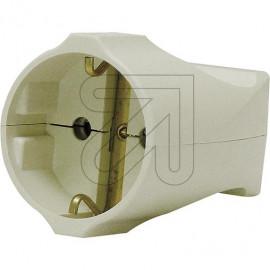 Standard Kupplung weiß Thermoplast schlagfest. Zugentlastung VDE/KEMA