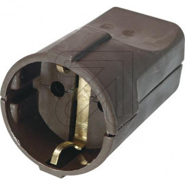 Standard Kupplung braun Thermoplast schlagfest. Zugentlastung VDE/KEMA