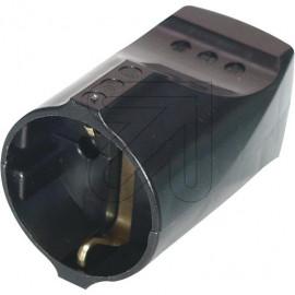 Standard Kupplung schwarz Thermoplast schlagfest. Zugentlastung VDE/KEMA