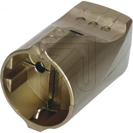 Standard Kupplung gold Thermoplast schlagfest. Zugentlastung VDE/KEMA
