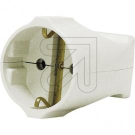 Standard Kupplung reinweiß Thermoplast schlagfest. Zugentlastung VDE/KEMA