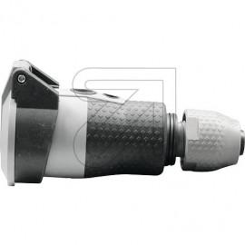 ABL Schuko Kupplung SCHUKOultra Pro mit Deckel 250V / 16A schwarz / grau