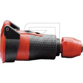 ABL Schuko Kupplung SCHUKOultra Pro mit Deckel 250V / 16A schwarz / rot