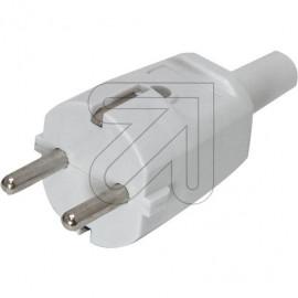 Protekt Stecker 250V / 16A grau Thermoplast schlagfest bis H07RN-F 3x1,5mm²