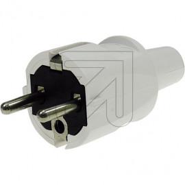 ABL PVC Stecker 250V/16A grau Knickschutztülle, bis H07RN-F 3x1,5mm²