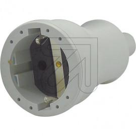 ABL PVC Kupplung 250V/16A grau Knickschutztülle, bis H07RN-F 3x1,5mm²