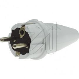 ABL PVC Stecker 250V / 16A grau Zugentlastung,  IP44  bis H07RN-F 3x1,5mm²