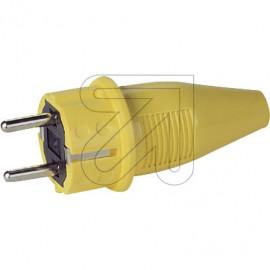 ABL PVC Signalstecker spritzwassergeschützt IP44 250V / 16A gelb