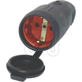 Gummi Kupplung mit Deckel, Zugentlastung und Hammerschlagzeichen T IP44