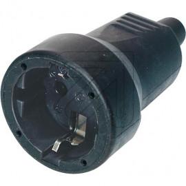 Mini Flex Kupplung 250V / 16A schwarz Gummitülle und Zugentlastung