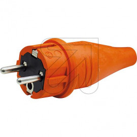 ABL Gummi Stecker IP44 250V / 16A orange mit Zugentlastung,