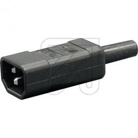 Kaltgeräte Anschlußstecker 230V / 10A schwarz VDE