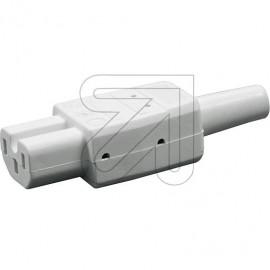 Warmgeräte Stecker 230V / 10A weiß VDE