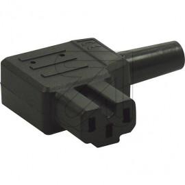 Heißgeräte Winkelstecker VDE 230V / 10A schwarz VDE