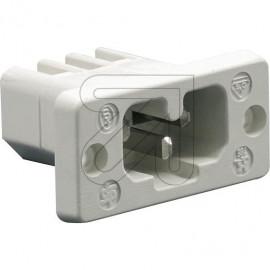 Heißgeräte Einbau Buchse Schraubanschluß 230V / 10A weiß