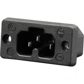 Heißgeräte Einbau Buchse Schraubanschluß 230V / 10A schwarz