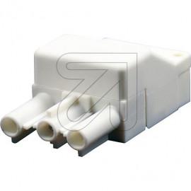 Schnellmontage Steckverbinder Buchsenteil 230V / 16A weiß für Leuchtenverdrahtung