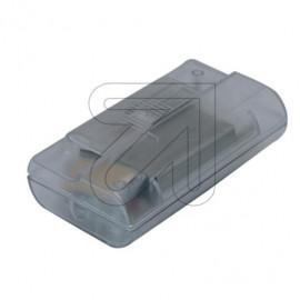 Lampen Schnur Fußdimmer, 20 - 500W, stufenlosem Schiebeschalter transparent