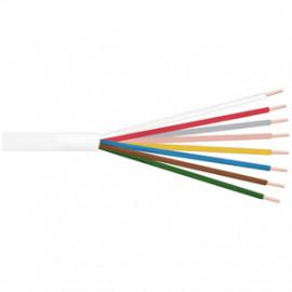 10 Meter Klingeldraht Rundleitung, 8 x 0,8²mm, weiß, inkl. CU