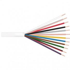 10 Meter Klingeldraht Rundleitung, 12 x 0,8²mm, weiß, inkl. CU