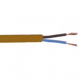 10 Meter Flachkabel, 2 x 0,75²mm H03 VVH-2F, braun, inkl. CU