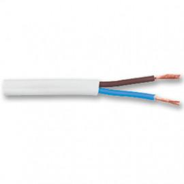 10 Meter Flachkabel, 2 x 0,75²mm H03 VVH-2F, weiß, inkl. CU