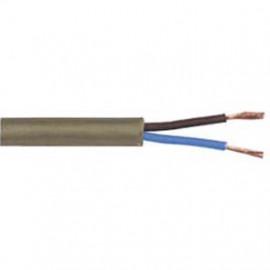 50 Meter Flachkabel, 2 x 0,75²mm H03 VVH-2F, gold, inkl. CU