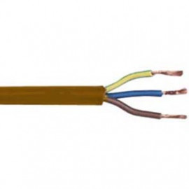 10 Meter Rundleitung, 3G x 0,75²mm H03 VV-F, braun, inkl. CU