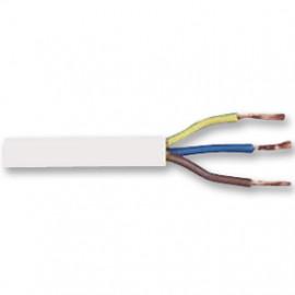 10 Meter Rundleitung, 3G x 0,75²mm H03 VV-F, weiß, inkl. CU
