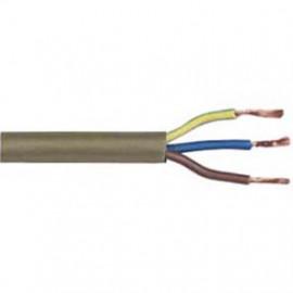 10 Meter Rundleitung, 3G x 0,75²mm H03 VV-F, gold, inkl. CU