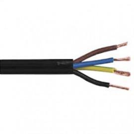 50 Meter Rundleitung, 4G x 0,75²mm H03 VV-F, schwarz, inkl. CU